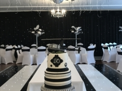 black and white backdrop 50th