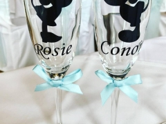 minnie and mickey champagne flutes