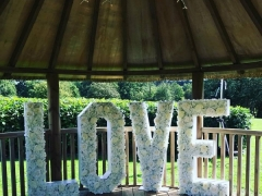 rustic floral love letters
